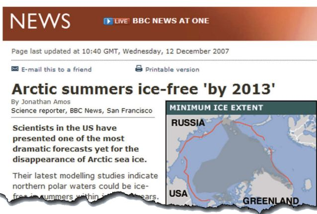 BBC ice sheet story