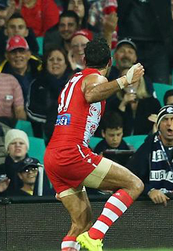 Goodes war dance